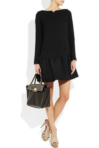 Victoria, Victoria Beckham|Dropped-waist stretch-wool dress|NET-A-PORTER.COM