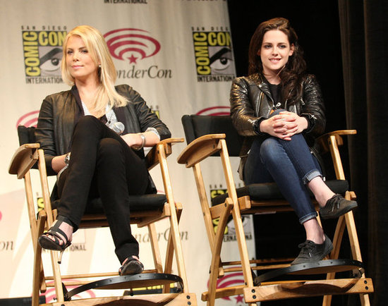 Kristen Stewart and Charlize Theron Talk SWATH at WonderCon