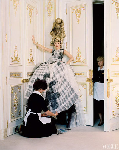 Kate Moss Wears Spring 2012 Couture in the Latest Issue of Vogue