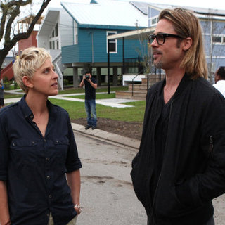 Brad Pitt in New Orleans With Ellen DeGeneres Video