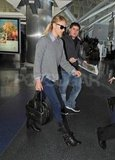 Charlize Theron leaving NYC.