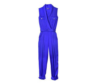 """This bright cobalt jumpsuit is a team favorite from the RZ collection—just throw it on and go!"" Rachel Zoe Shawl Collar Jumpsuit ($495)"