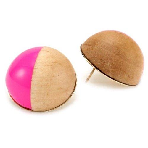 Kate Spade New York Rosewood Dot Pink Stud Earrings - designer shoes, handbags, jewelry, watches, and fashion accessories   endl