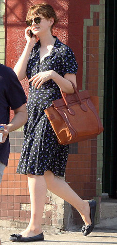Carey Mulligan in Floral Dress and Chloé Bag
