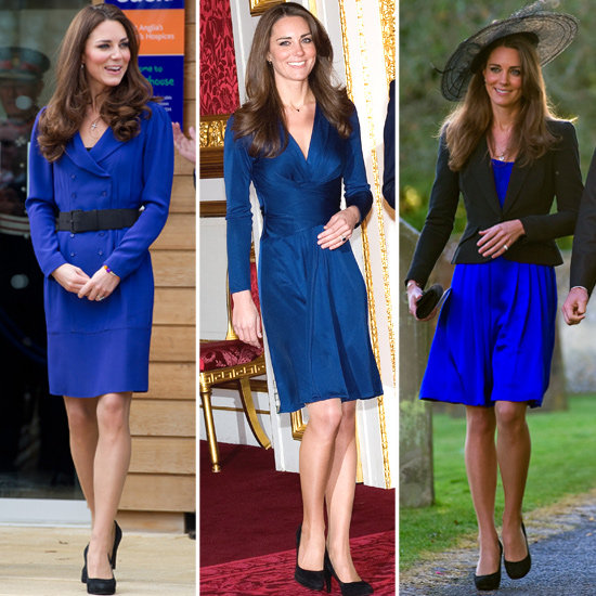 Kate Middleton in Royal Blue Dresses