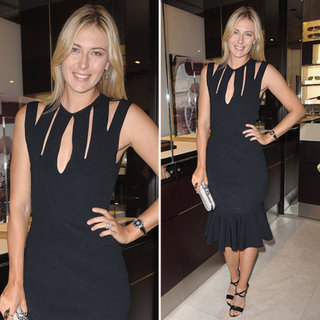 Maria Sharapova Cutout Black Dress