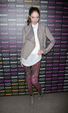 Coco Rocha stepped out for a Hudson party in the brand's playfully coloured skinnies.