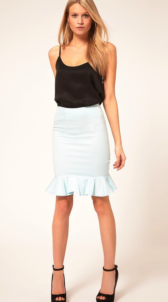 Pair this fitted peplum-hem skirt with a silky white tank and matching blazer for a killer office look.  ASOS Peplum Hem Skirt ($54)