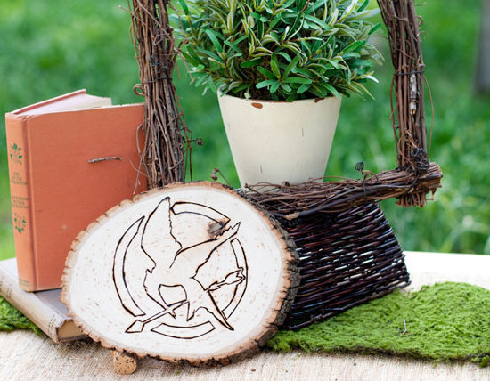 Wood-Burned Mockingjay