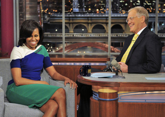 Michelle Obama Almost Tears Up on Letterman