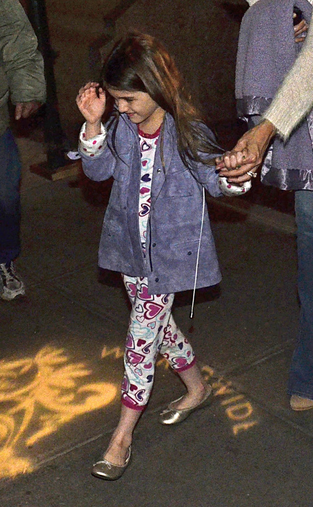 Suri Cruise heads into ABC Kitchen in NYC.