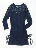 Alberta Ferretti for Macy's Impulse Navy Lace Tunic ($49)