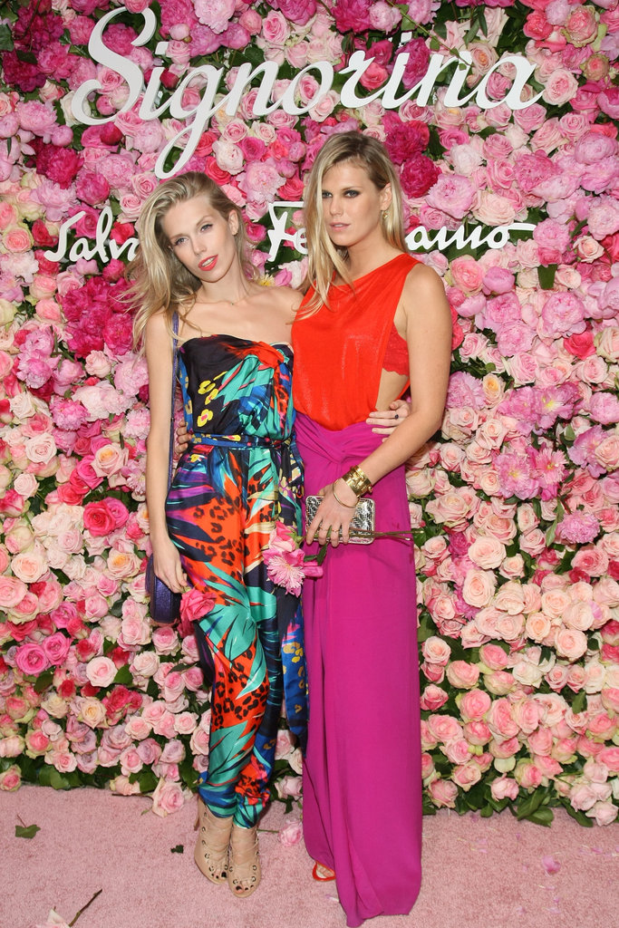 Sister duo Theodora and Alexandra couldn't have been more perfectly matched in bold hues and prints.