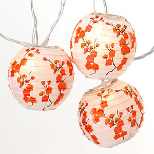 Cherry Blossom Lantern Lights ($30)