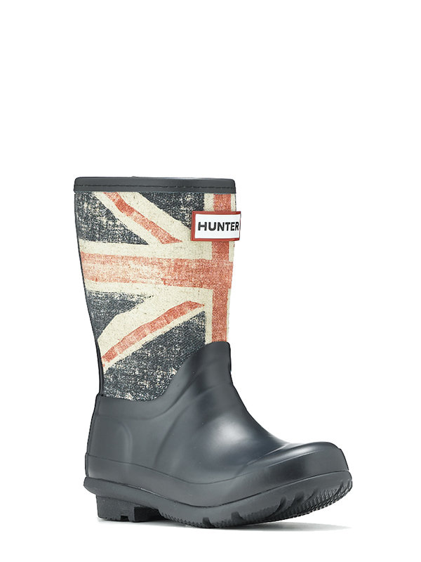 The perfect accessory for April's showers, Hunter's Original British Boot ($95) features a vintage Union Jack flag and looks great on boys and girls.