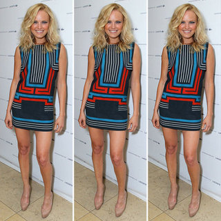 Malin Akerman Geometric Dress