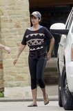 Camila Alves exercised in Austin, TX.
