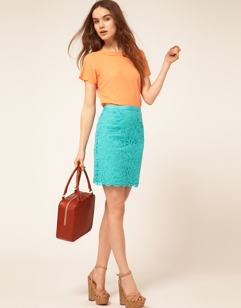 This polished-fit pencil also boasts a brilliant seasonal hue that would instantly refresh your working wardrobe.  Oasis Warehouse Lace Skirt ($72)