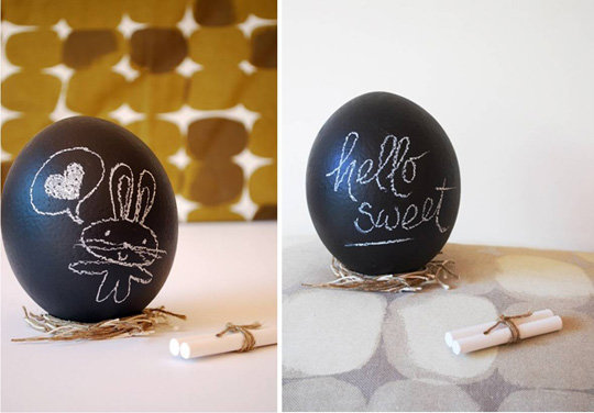 Chalkboard Painted Eggs