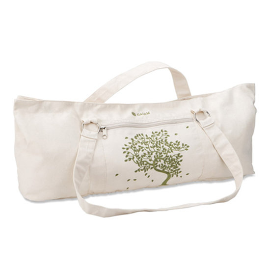The shape of this Tree of Life Yoga Tote ($25) is different from your typical mat carrying case. That green tree design is perfect for welcoming Spring.