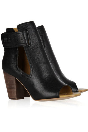 See by Chloé|Cutout leather ankle boots|NET-A-PORTER.COM