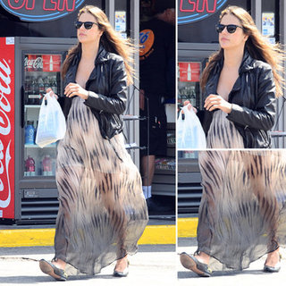 Alessandra Ambrosio Sheer Maxi Dress