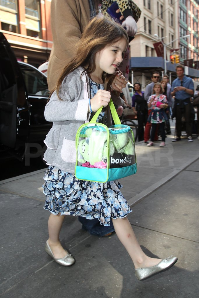 Katie and Suri Spend a Special Lunch With Friends