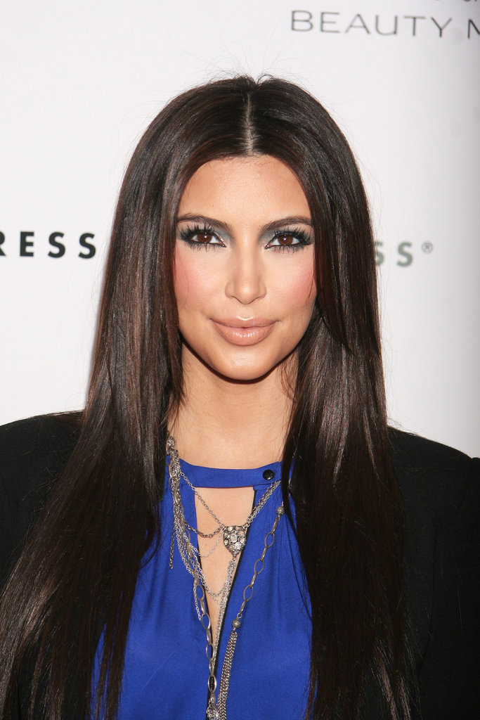 Kim Kardashian got covered in flour at the True Reflection fragrance launch.