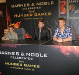 Liam Hemsworth, along with Amandla Stenberg and Alexander Ludwig, waited to meet fans.