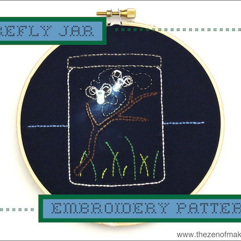 LED Firefly Embroidery Pattern