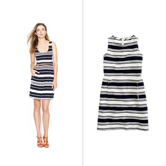 J.Crew Villa Dress ($88) and Pocket Dress in Sidewalk Stripe ($50)