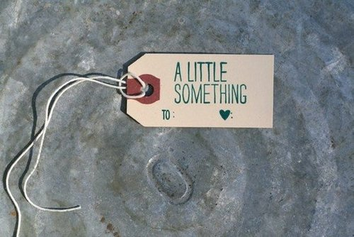 A Little Something Gift Tags / 6-Pack / Letterpress Printed