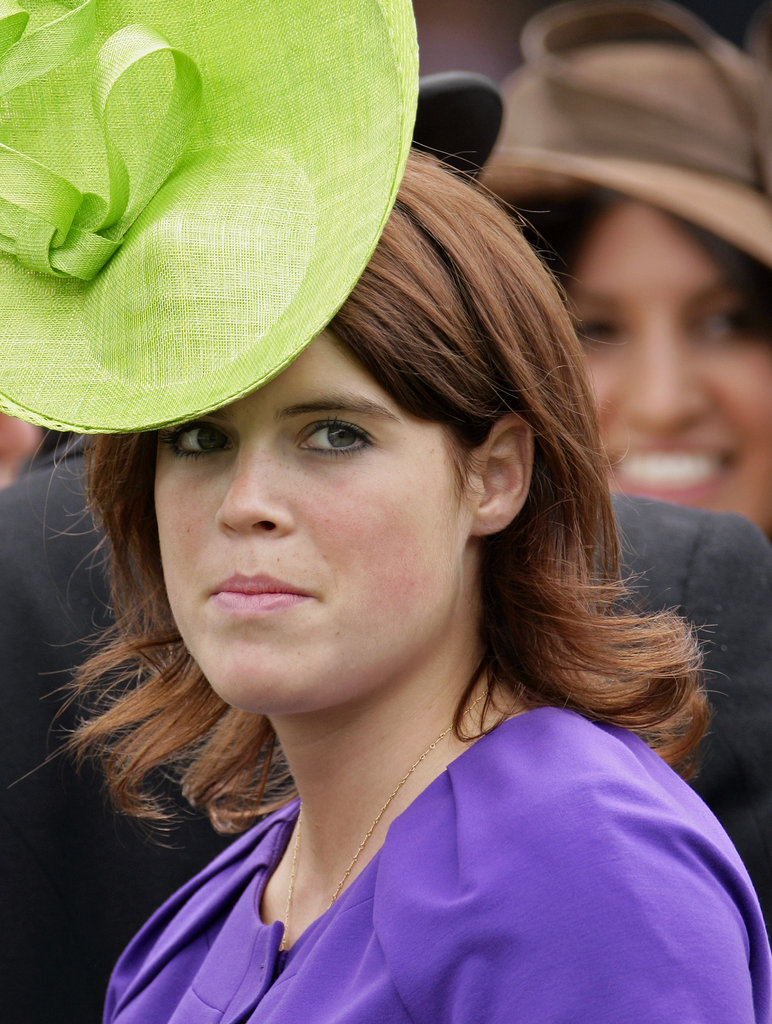 Princess Eugenie wears a bold hat in 2009.