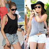 Lucy Hale White Cutoff Shorts