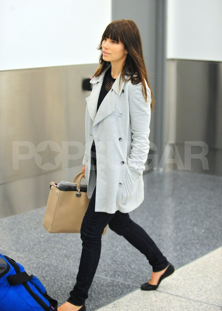 Jessica Biel took off from LAX.