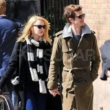 Emma Stone and Andrew Garfield were walking in NYC.