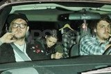 Kristen Stewart headed home with friends.