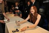 Karen Gillan, who plays Amy Pond, signs autographs.  Photo: Doctor Who Facebook, Alexandra Thompson