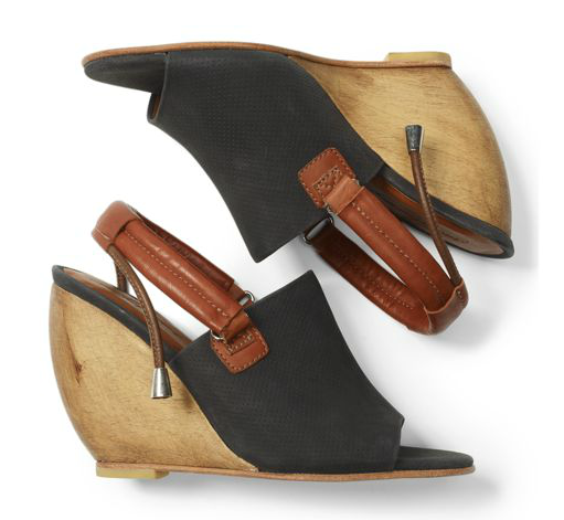 Club Monaco is stocking Rachel Comey in its online shop; we adore these comfy chic wedge sandals.  Rachel Comey Wedge Slingbacks ($425)