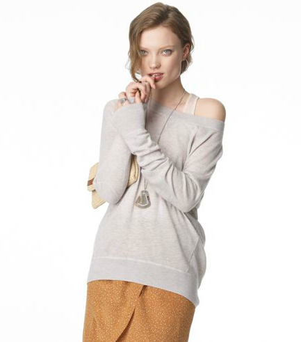Add a luxe touch to your casual daywear with a cashmere sweatshirt. Wear it alone with jeans and sneakers, or style it over a slip dress for a romantic layered look.  Club Monaco Alice Cashmere Sweater ($199)