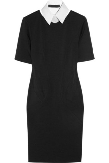 Karl Interlock Collared Stretch-Jersey Dress ($270)