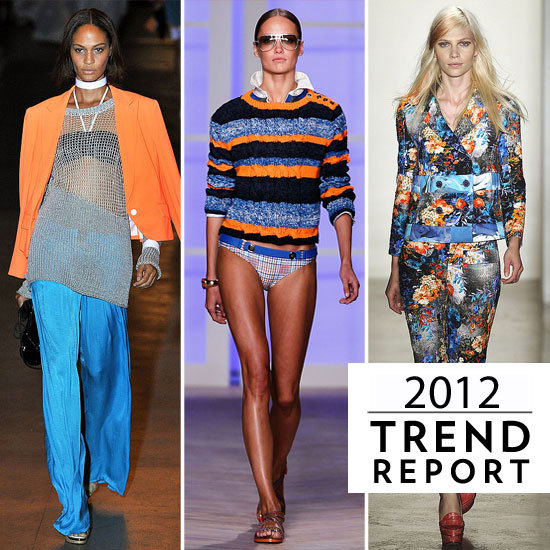 2012 Colour Trends: See the Top Colours from Fashion Week Spring Summer 2012: Blues, Greens, Red, Purple, Pastels and more!