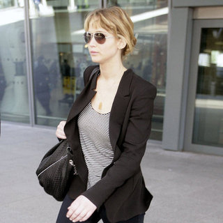 Jennifer Lawrence Pictures at Heathrow