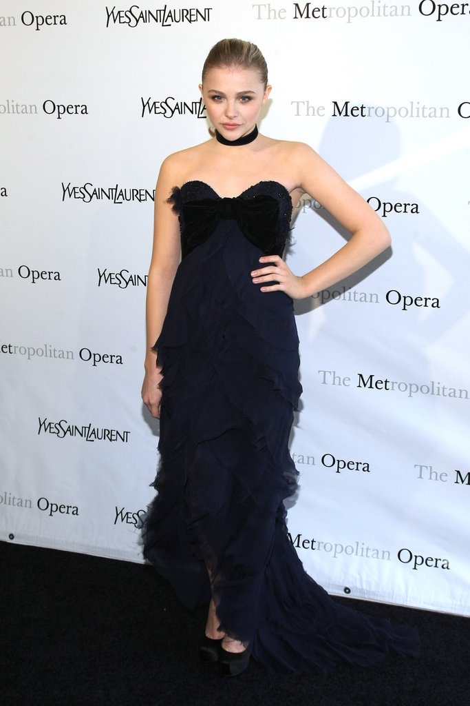 Chloë Moretz attended the Metropolitan Opera gala in NYC.