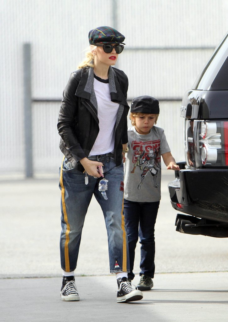 Gwen Stefani Takes Kingston on a Stylish Trip to the Gym