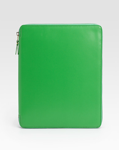 Comme des Garcons Leather iPad Cover in green ($495)