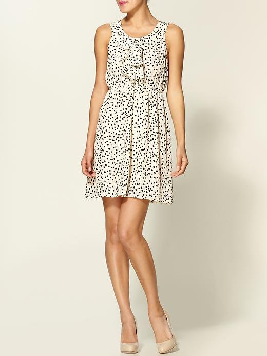 The polka dots have that girlie retro quality, but the silhouette is easy enough to pull off for everyday.  Ya Los Angeles Ladylike Dot Dress ($43, originally $54)