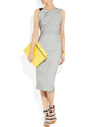 Victoria Beckham|Oversized leather pouch|NET-A-PORTER.COM