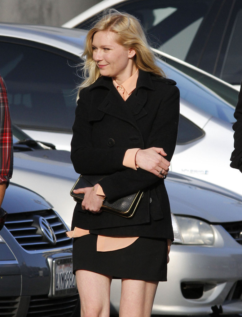 Kirsten Dunst on set of The Bling Ring.