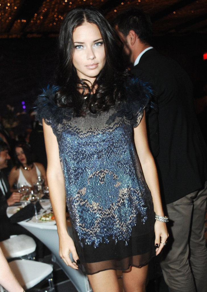 Adriana Lima in a little dress.